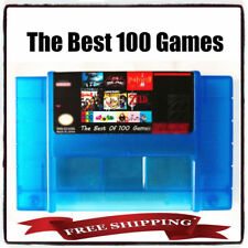 100 in 1 Super Nintendo SNES US Castlevania Final Fight Fantasy Mario DK Contra