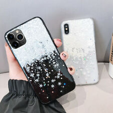 For iPhone 11 Pro XS Max XR X 8 7 Plus Snowflake Clear Soft Silicone Cover Case