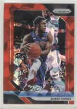 2018 Panini Prizm Red Ice #202 Ish Smith Detroit Pistons Ishmael Basketball Card