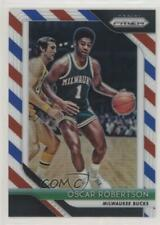 2018-19 Panini Prizm Red White & Blue #125 Oscar Robertson Milwaukee Bucks Card