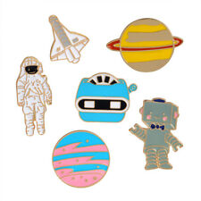 Enamel Pin Warfare Astronaut Robot Brooches Jewelry Collection Astronomy Gift