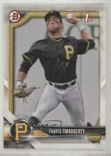 2018 Bowman Draft #BD-198 Travis Swaggerty Pittsburgh Pirates Rookie Card