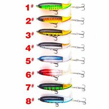 1pc fishing lure 13g/10cm topwater rotating tail vmc hooks bass fishing baits CY