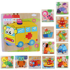 Baby Wooden Learning Geometry Educational Toy 3D Jigsaw Puzzle Board Montessori