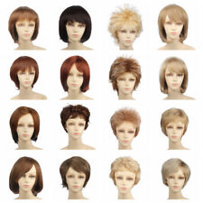 Women Short Curly Daily Hair Wig Synthetic Cosplay Full Wigs Heat Resistant