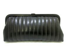 b4f5f0026094 Auth CHANEL New Mademoiselle Line Black Lambskin Clutch Bag