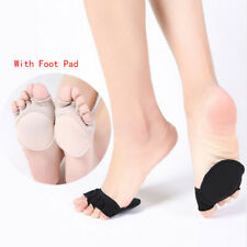 4 Pairs Women Lady Open Toe Foot Pad Socks Heelless Forefoot Half Socks No Show