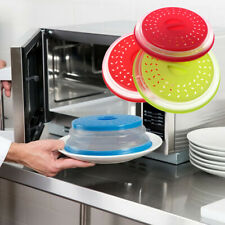 Collapsible Silicone Microwave Cover Lid Colander Strainer for Fruit Vegetable
