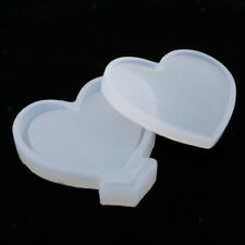 Heart Shape Silicone Mold Resin Jewelry Making Mould Epoxy Pendant Craft DIY
