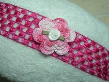 HANDMADE ROSE HEADBAND HAIRCLIP BABY TODDLER GIRL UPICK