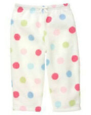 new Nwt GYMBOREE girls BABY CAKES Polyester Microfleece Polka Dot Ivory Pants