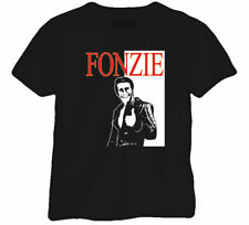 Fonzie Happy Days Cool Retro Fonz NEW Fun Black T Shirt