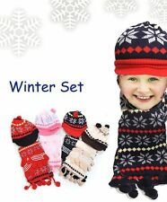 Kid's Knit Star GLOVE, HAT, SCARF SET (WNTSET14)