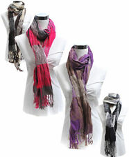Stars & Plaid Viscose SCARF in 4 Colors (LS2906)