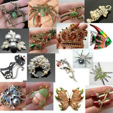 Spider Scorpion Tiger Cat Fish Crown Flower pin brooch