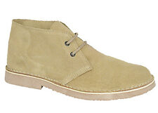 Mens New Sandy Camel Taupe Desert Suede Boots Sizes 3 - 15 Free P/P