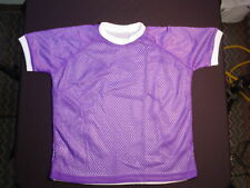 New Reversible Mesh Practice or Team Jersey Soccer Purple/White #1010