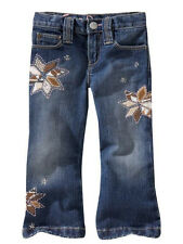 Baby Gap kid girl embroidered denim pants jeans 2 2t
