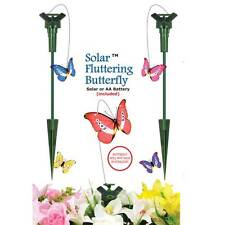 5 x NEW SOLAR POWERED FLYING FLUTTERING BUTTERFLY BNIB
