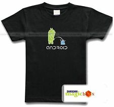 Google Android PEE PISS ON APPLE Funny Geek T-shirt Tee