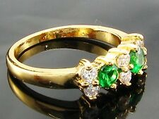 Indian Gold Plated Faux Green Emerald Ring Imitation
