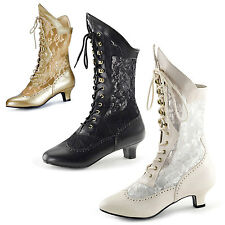 Victorian style burlesque Lace ankle boots BNIB UK3-9