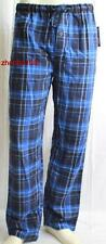 PERRY ELLIS Flannel Lounge Pants Navy Blk Plaid M L XL