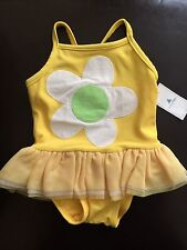 NWT Baby GAP Daisy Flower Bee One-Piece Swimsuit Tutu Swimwear NEW 3-6 months
