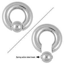 Captive Bead Ring with Spring Action Steel Bead CBR - Available in 2G/0G/00G
