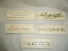 SMALL TALK - WHIMSICAL SAYINGS PLAQUES - YOU CHOOSE-NEW
