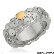 BK-UP BY BARAKA Ring BAND STAINLESS STEEL $155