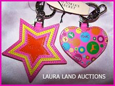 YOU PICK ~ Victoria's Secret PINK KEYCHAIN Key Ring FOB~NWT~ STAR~ HEART~