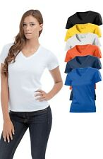 Hanes Tagless Plain Organic Cotton Womens Womans Ladies V-Neck Vee-Neck T-Shirt