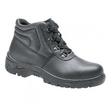 MENS STEEL TOE CAP BLACK SAFETY HIKING WORK BOOTS