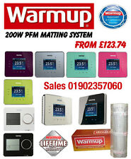 Warmup Underfloor Heating Mat Inc Stat 200W 2WPFM