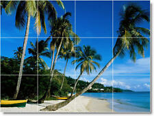 S-M-L-XL Beach Photo Ceramic Kitchen Backsplash Bathroom Shower Tile Murals 13