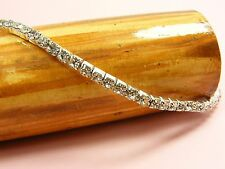 1-10 Row STRETCH Wedding Bridal CRYSTAL Rhinestone BANGLE Bracelet ANKLET