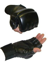 Gel Padded TKO Fingerless Gloves UFC/MMA Leather