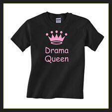 """Funny Children's T shirt """"Drama Queen""""  with a crown Kids Tshirts ages 2-13"""
