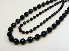 ~Custom Made~  Mystic Black STAINLESS STEEL 3mm / 5mm Ball CHAIN NECKLACE +LONG