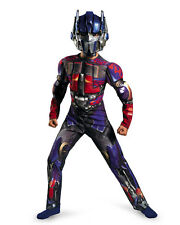 OPTIMUS PRIME MUSCLES COSTUME & MASK Boys Transformers Child Kids Halloween NEW