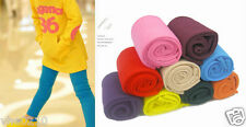 Kid's Coloured Fleece Lined  Footless Tights/Legging (9 Colours/3 Size)-04682