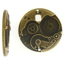 Antique Brass Large Watch Face Mechanism Steampunk Style 1pcs or 5pcs (009)