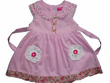 New Baby Girls Cotton Party Dress in Pink,White From 6-9 to 2-3 Years