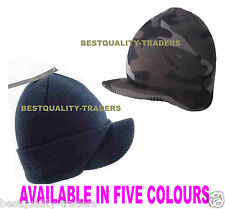 Ribbed Peaked Beanie Hat Warm And Stylish Cap One Size Same Day Dispatch