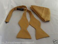 GOLD Self-tie Bow tie & Hankie Set-Instructions-The More U Buy>The More U Save*