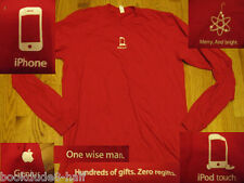 The ULTIMATE APPLE STORE Red T-SHIRT Listing S M L XL 2XL iPod iPhone Tech Touch