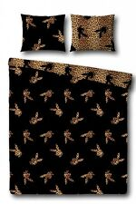 Playboy Bettwäsche flying Bunny Leopard schwarz Bunny Allover leopardenlook
