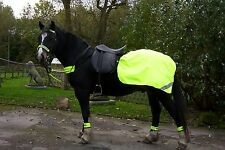FLUORESCENT RUG SET - RUG, LEG, BRIDLE,CHEST & HAT - YELLOW OR PINK