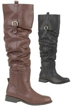 WOMENS / LADIES KNEE LENGTH SLOUCH RIDING BOOTS AVAILABLE IN UK SIZE 3 to 8